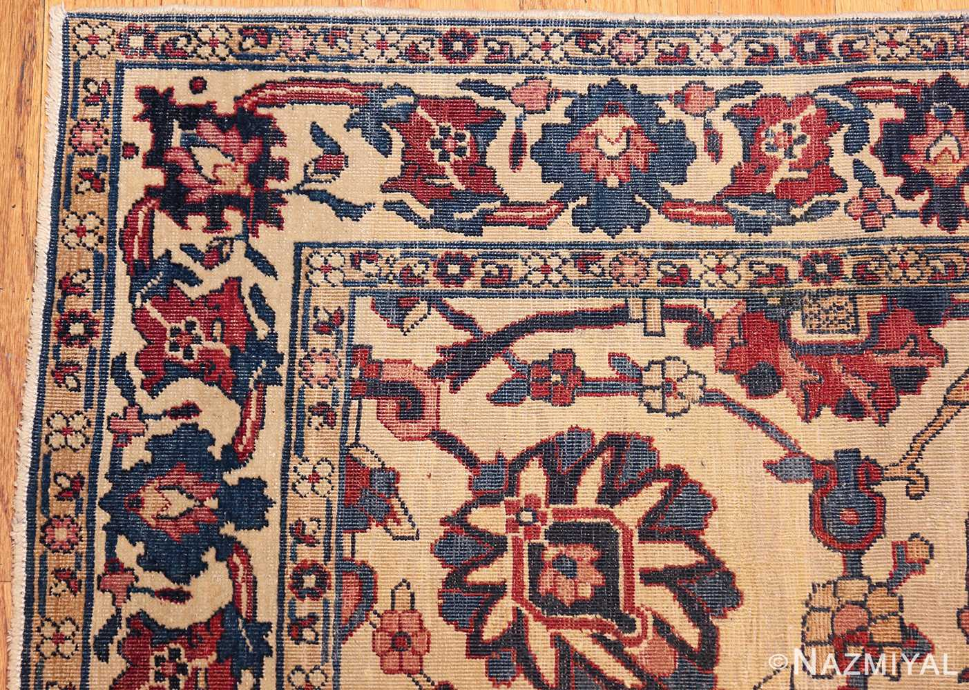 small scatter size antique persian kerman rug 42480 corner Nazmiyal