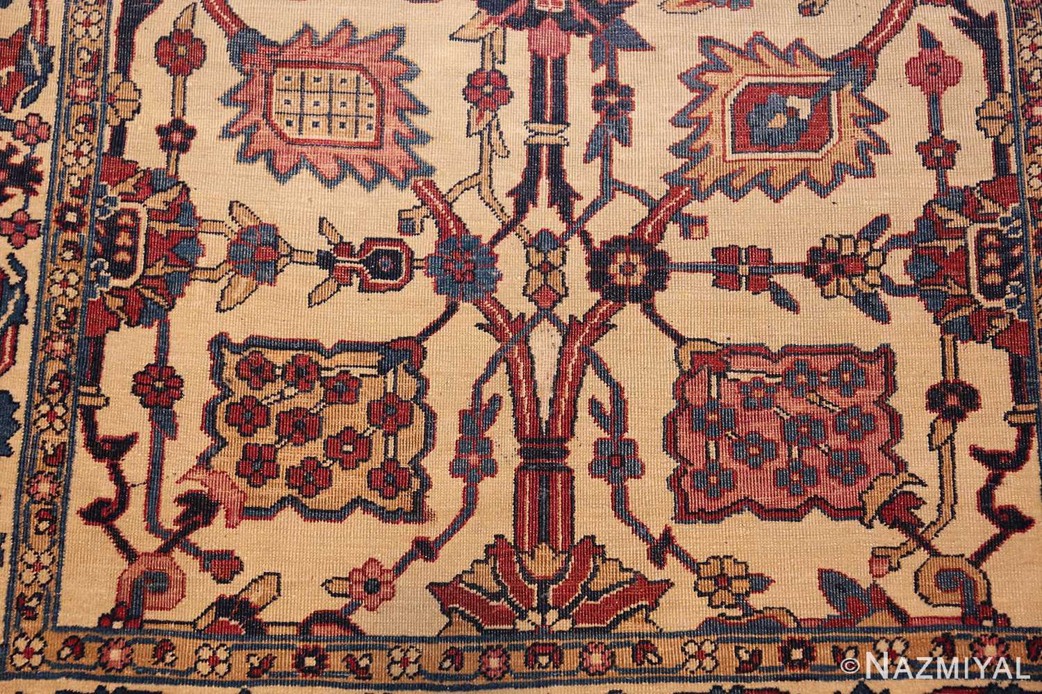 small scatter size antique persian kerman rug 42480 down Nazmiyal