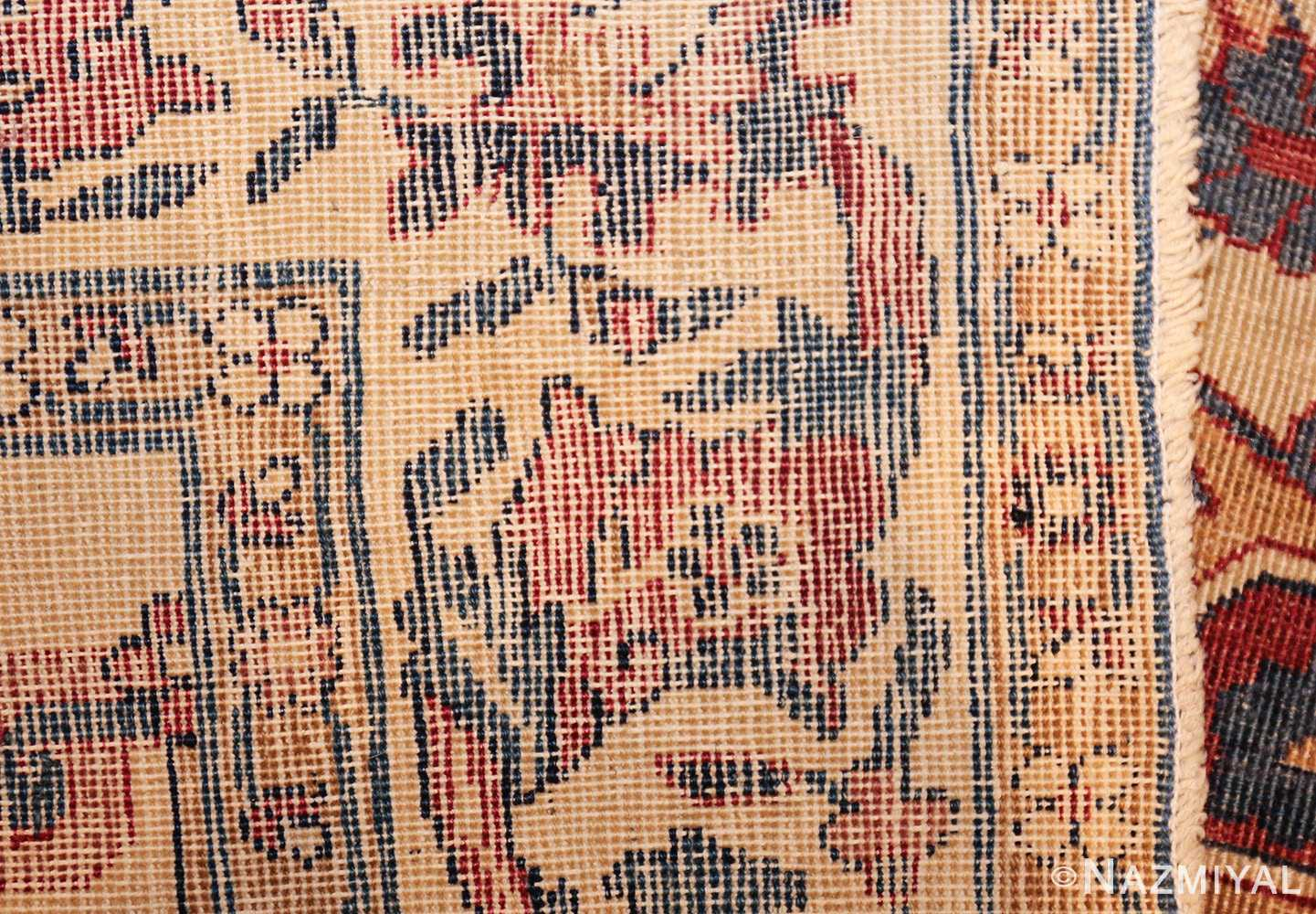small scatter size antique persian kerman rug 42480 weave Nazmiyal
