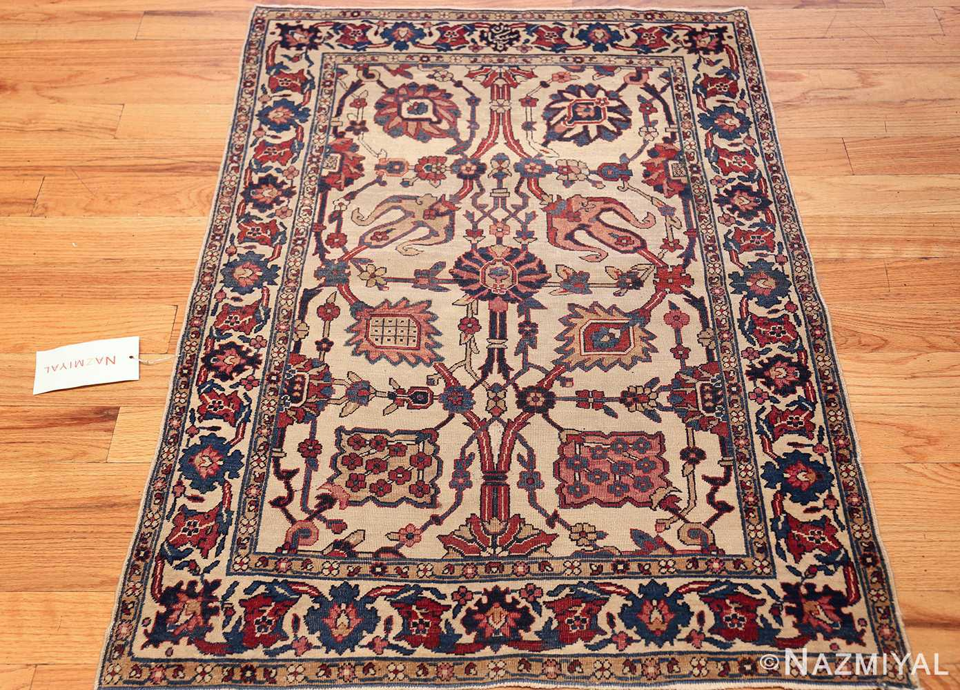 small scatter size antique persian kerman rug 42480 whole Nazmiyal