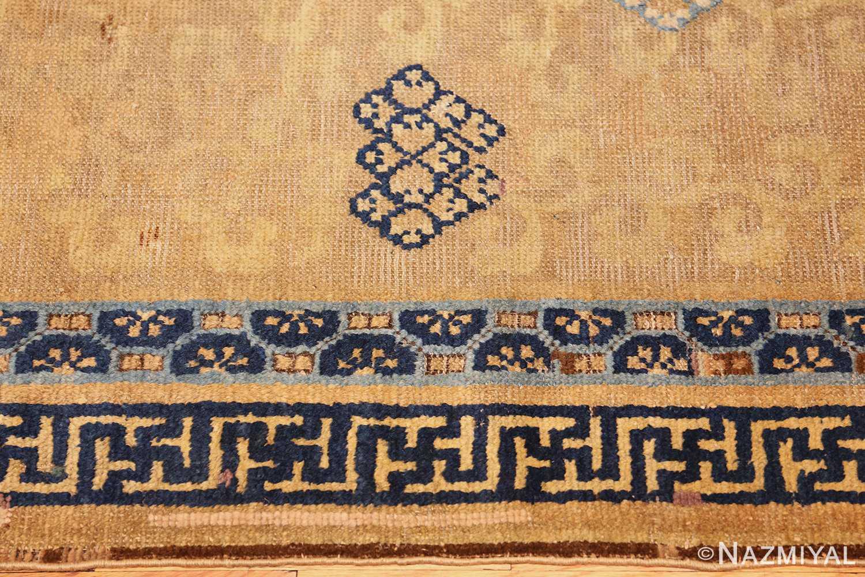 rare antique 17th century chinese ningsia rug 3285 border Nazmiyal