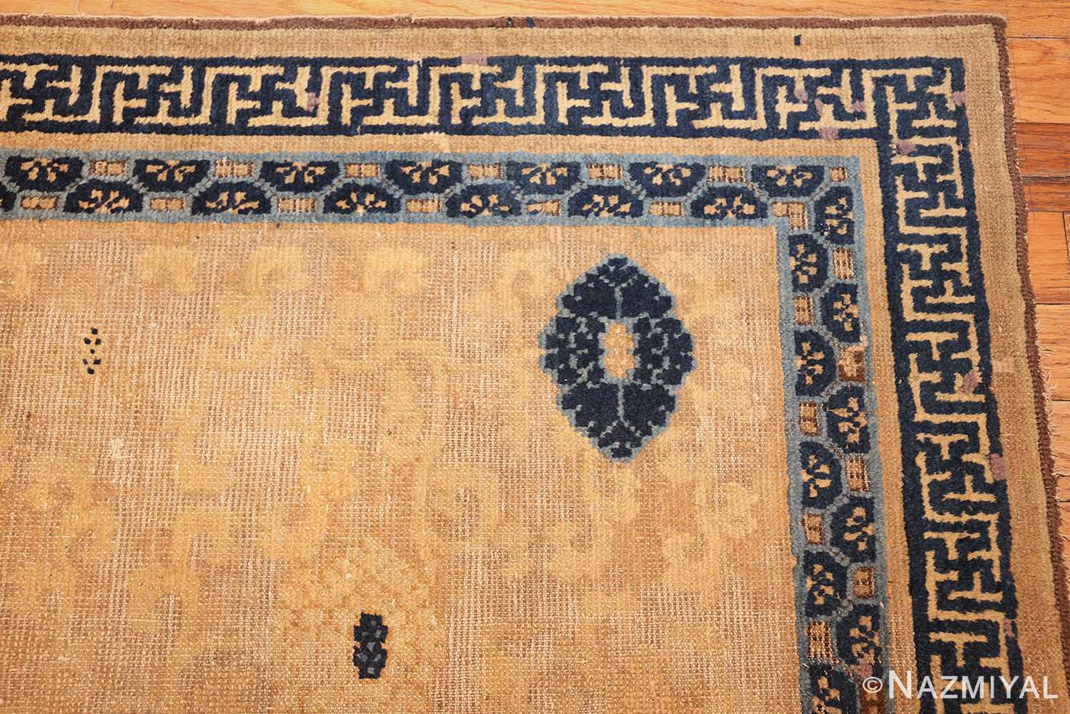 rare antique 17th century chinese ningsia rug 3285 corner Nazmiyal