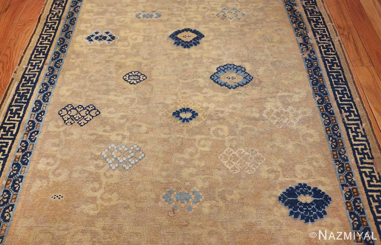 rare antique 17th century chinese ningsia rug 3285 field Nazmiyal