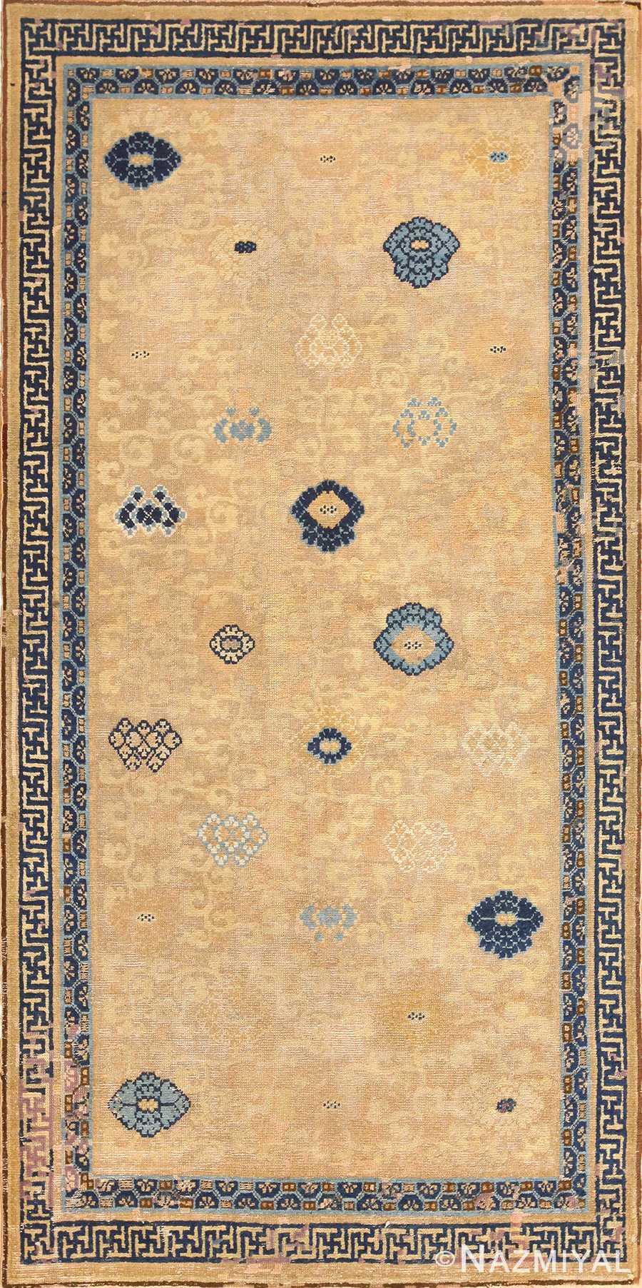 rare antique 17th century chinese ningsia rug 3285 Nazmiyal