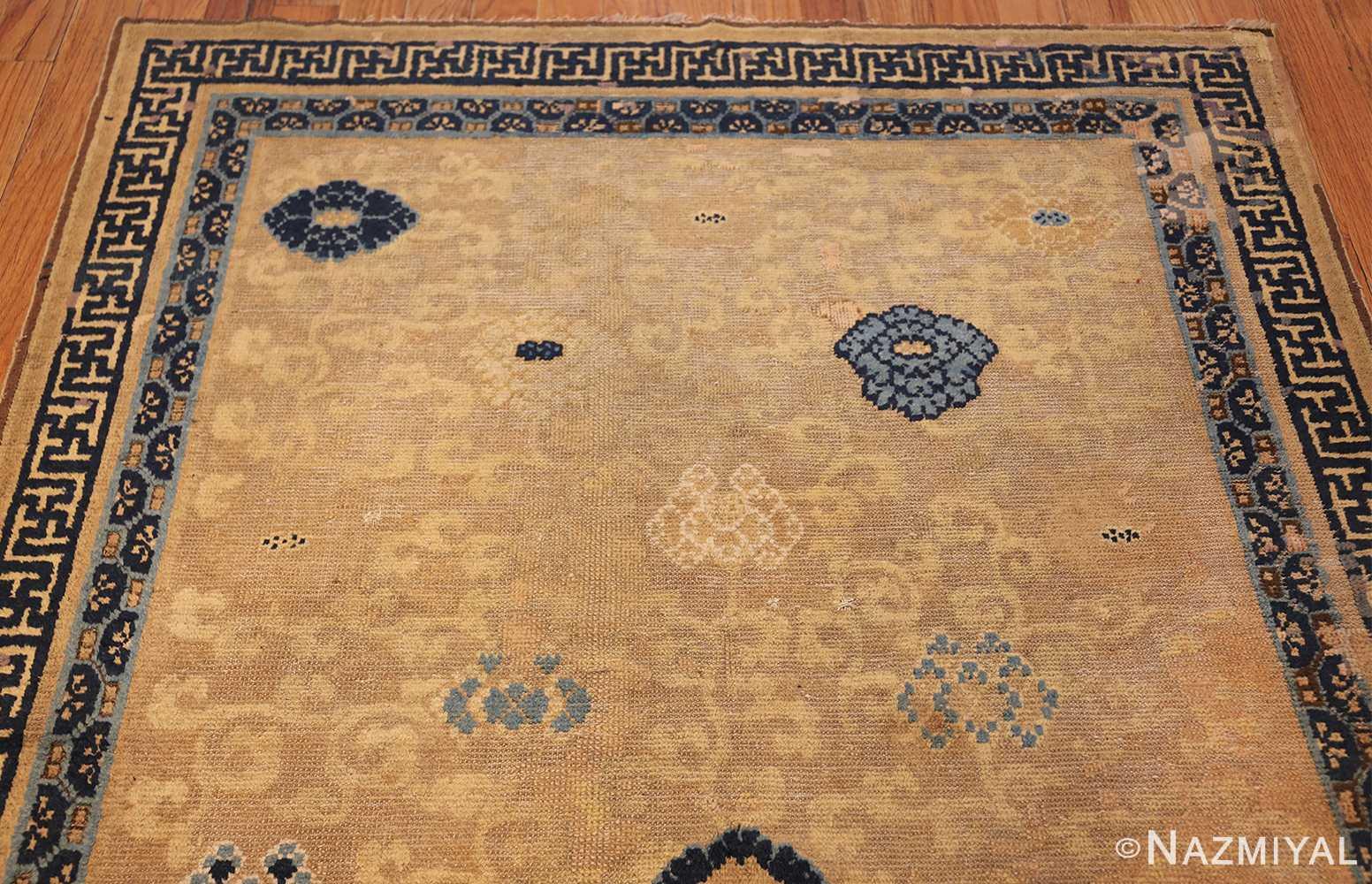 rare antique 17th century chinese ningsia rug 3285 top Nazmiyal