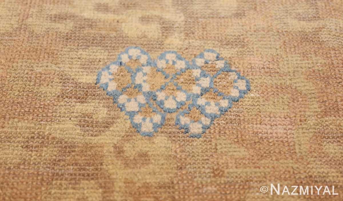 rare antique 17th century chinese ningsia rug 3285 white Nazmiyal