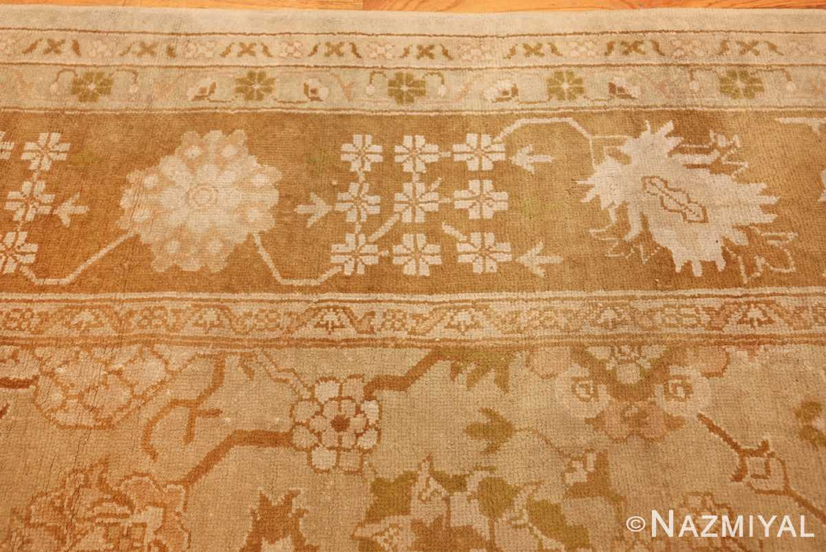 vintage turkish oushak rug 42081 border Nazmiyal