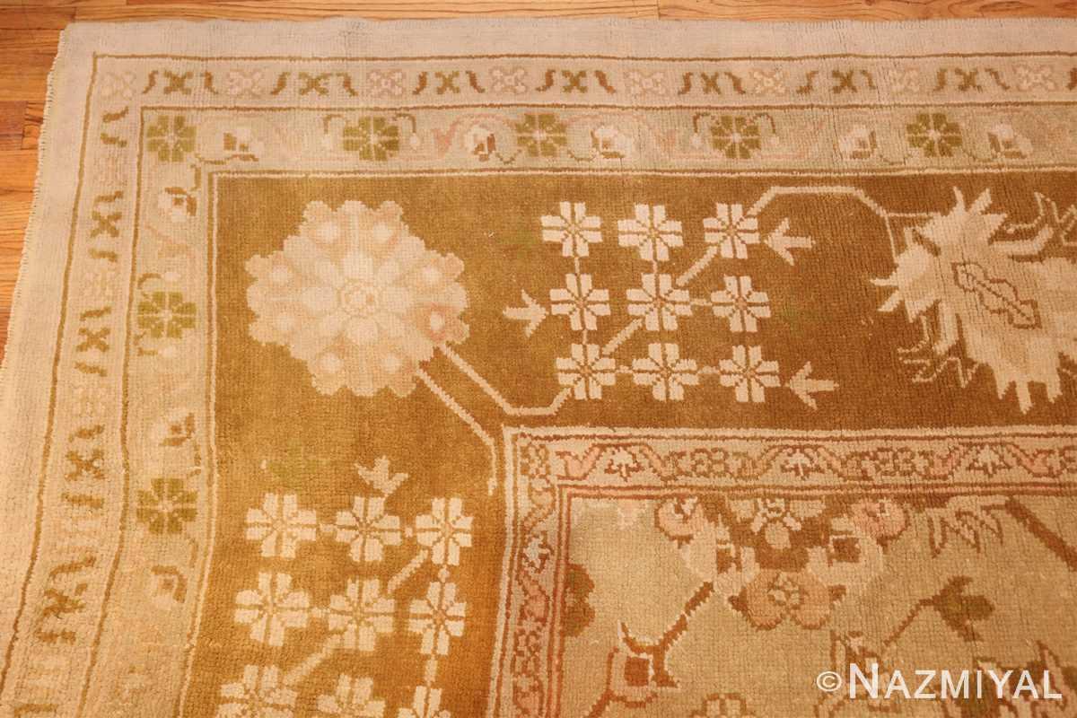 vintage turkish oushak rug 42081 corner Nazmiyal