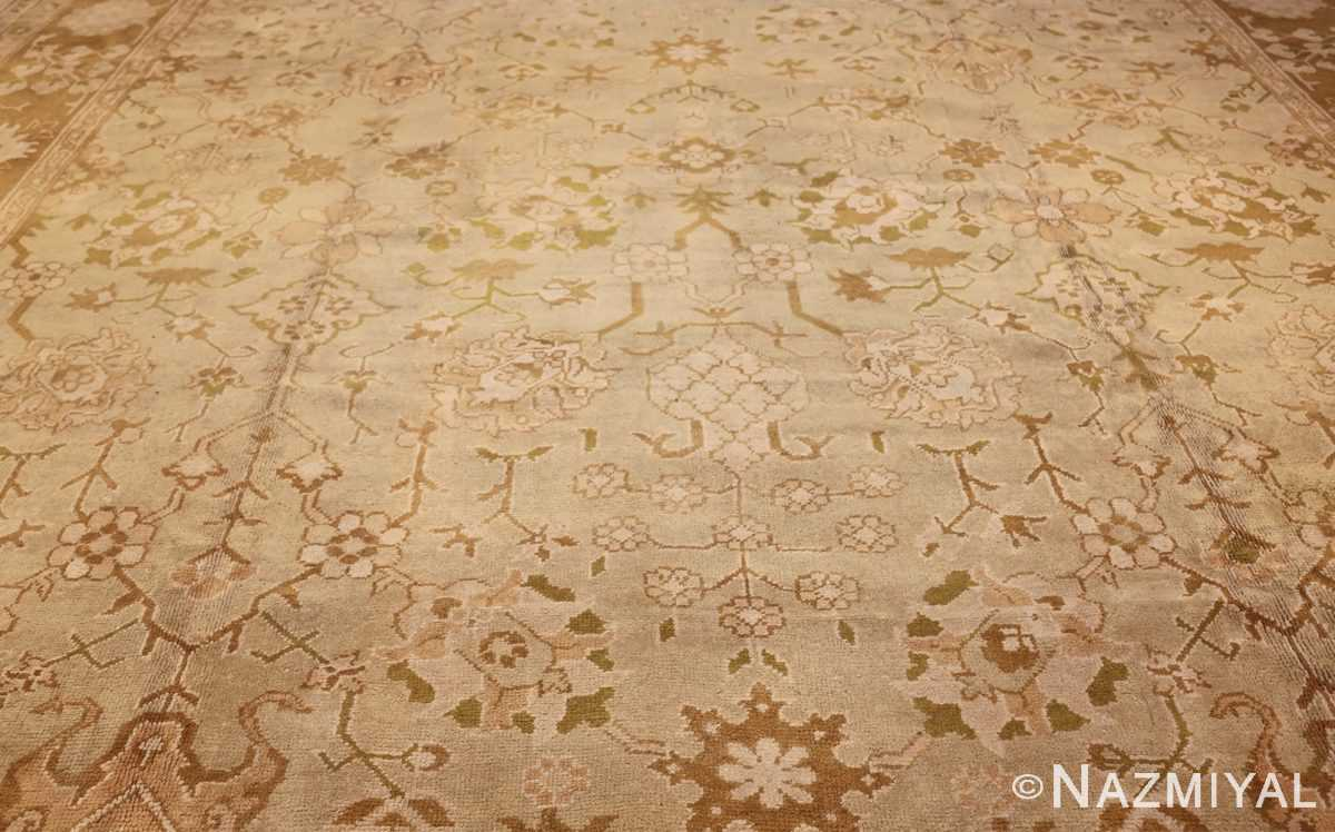 vintage turkish oushak rug 42081 field Nazmiyal
