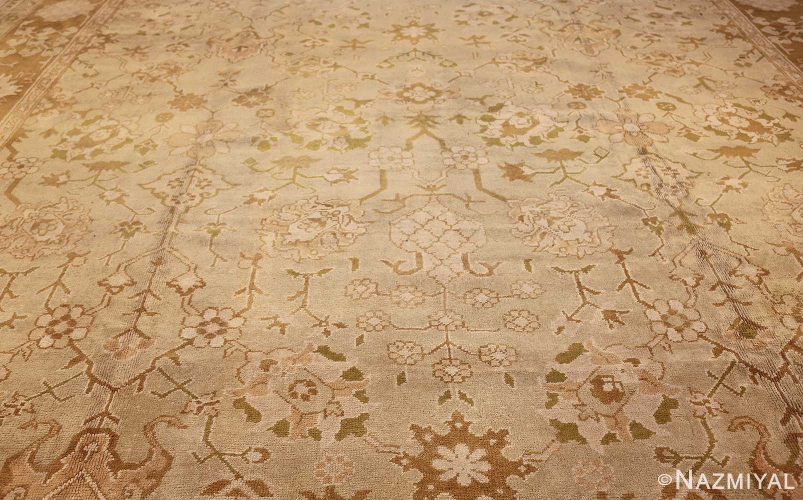 vintage turkish oushak rug 42081 field Nazmiyal