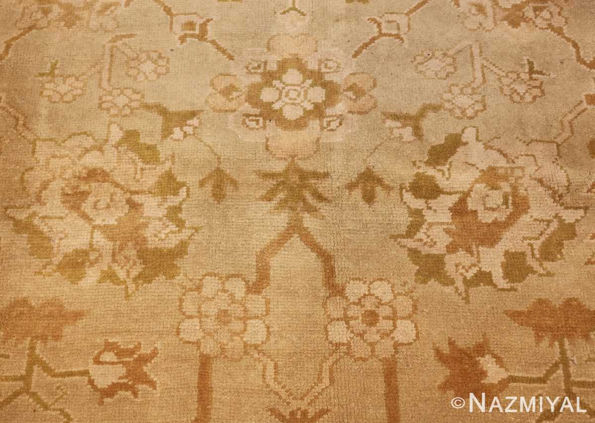 vintage turkish oushak rug 42081 flower Nazmiyal