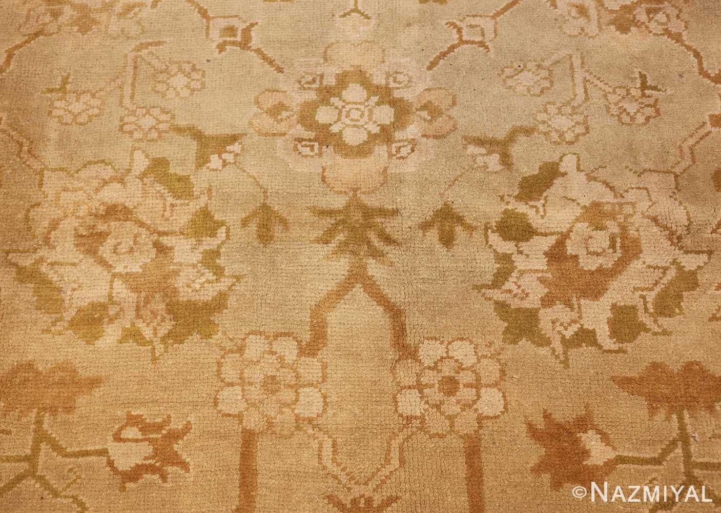vintage turkish oushak rug 42081 flower Nazmiyal