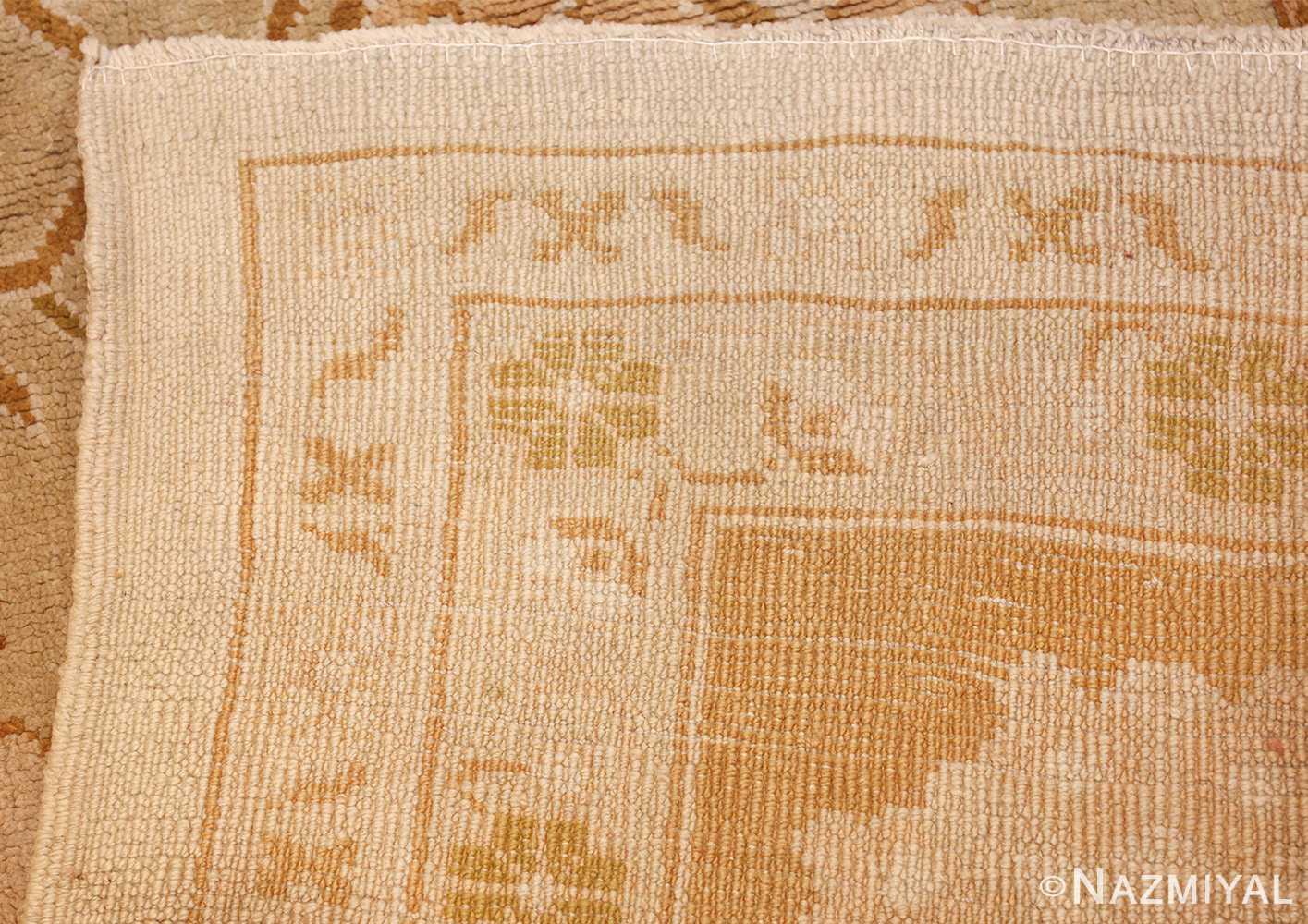 vintage turkish oushak rug 42081 weave Nazmiyal