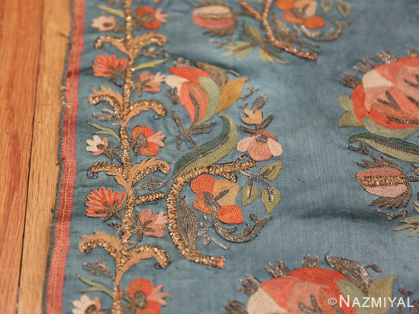 Collectible Antique Ottoman Silk Embroidery 42621 Border Design Nazmiyal