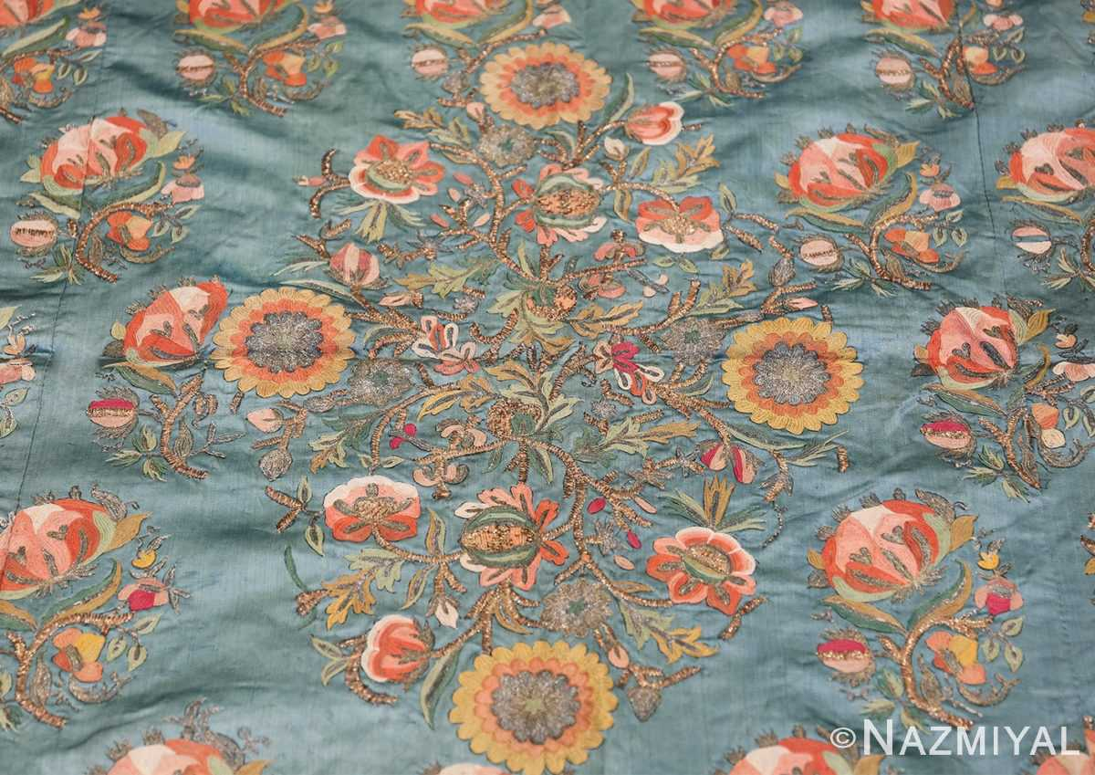 Collectible Antique Ottoman Silk Embroidery 42621 Central Medallion Nazmiyal
