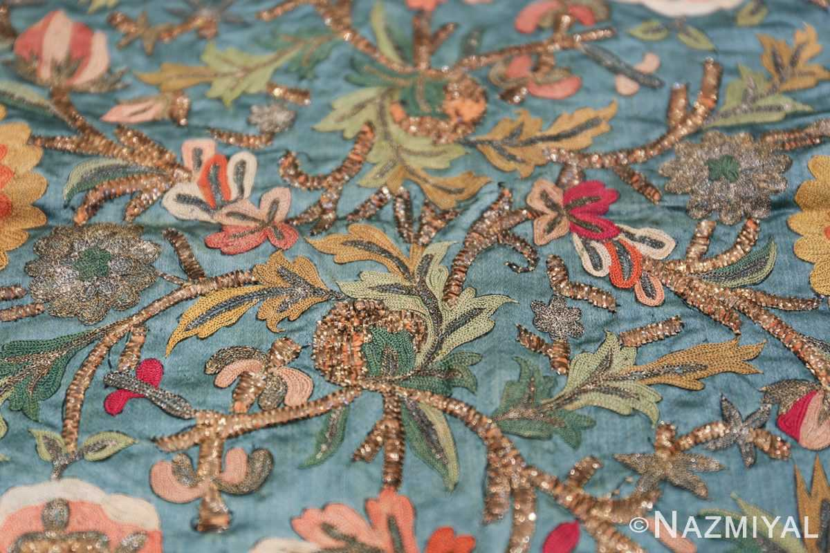 Collectible Antique Ottoman Silk Embroidery 42621 Inside Leaves Nazmiyal