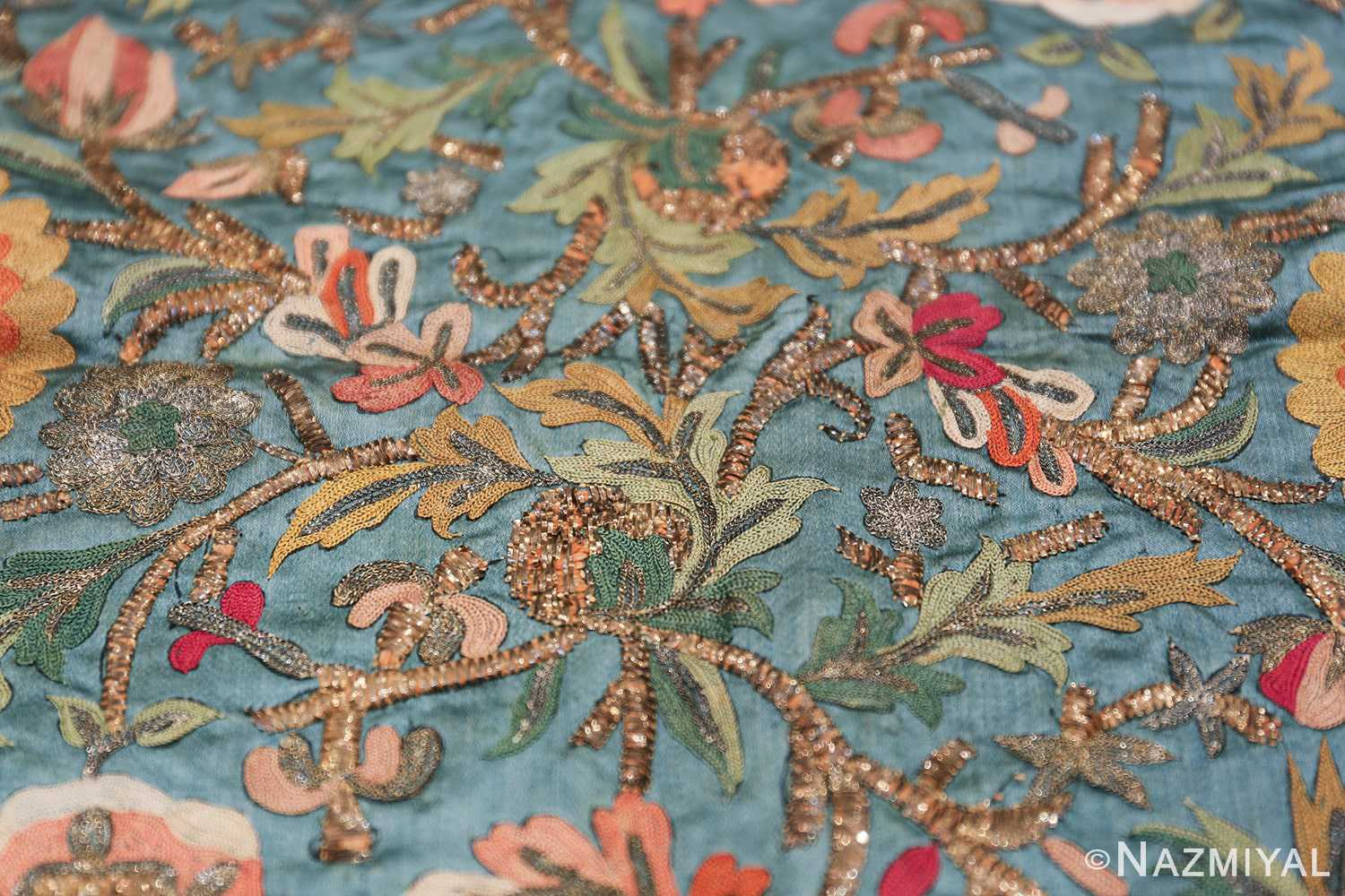Antique Ottoman Embroidery 42621 By Nazmiyal Antique Rugs Nyc