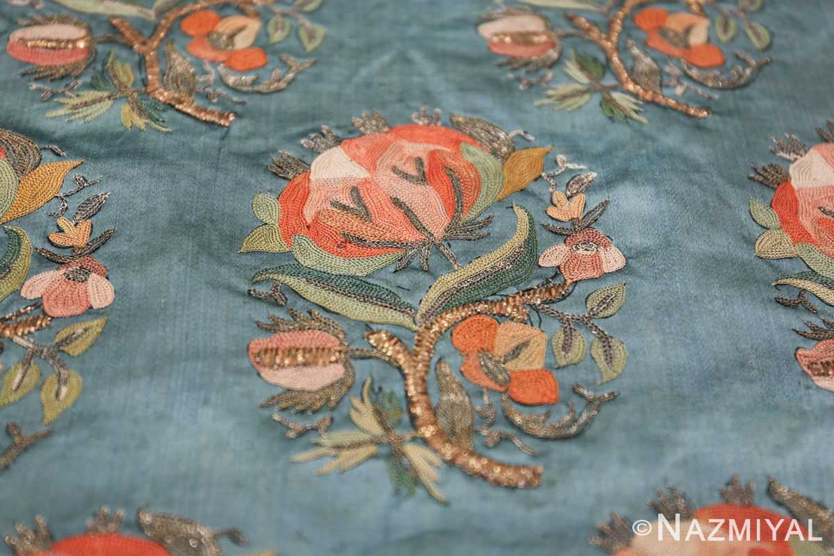 Collectible Antique Ottoman Silk Embroidery 42621 Rose Flower Nazmiyal