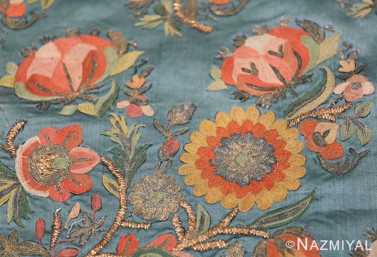 Collectible Antique Ottoman Silk Embroidery 42621 Sunflower Nazmiyal