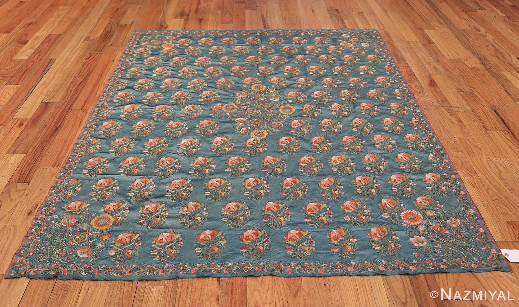 Collectible Antique Ottoman Silk Embroidery 42621 Whole Design Nazmiyal
