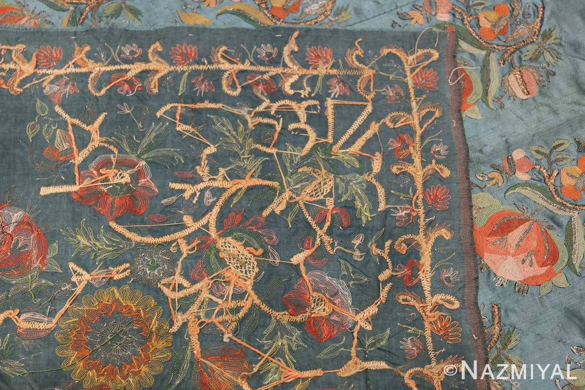 Collectible Antique Ottoman Silk Embroidery 42621 Woven Knots Nazmiyal