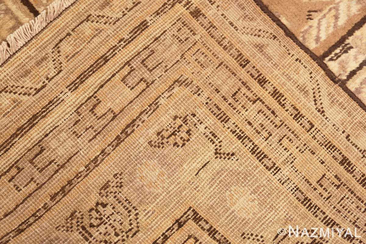 Picture of the weave of Antique Khotan Rug 42526 by nazmiyal