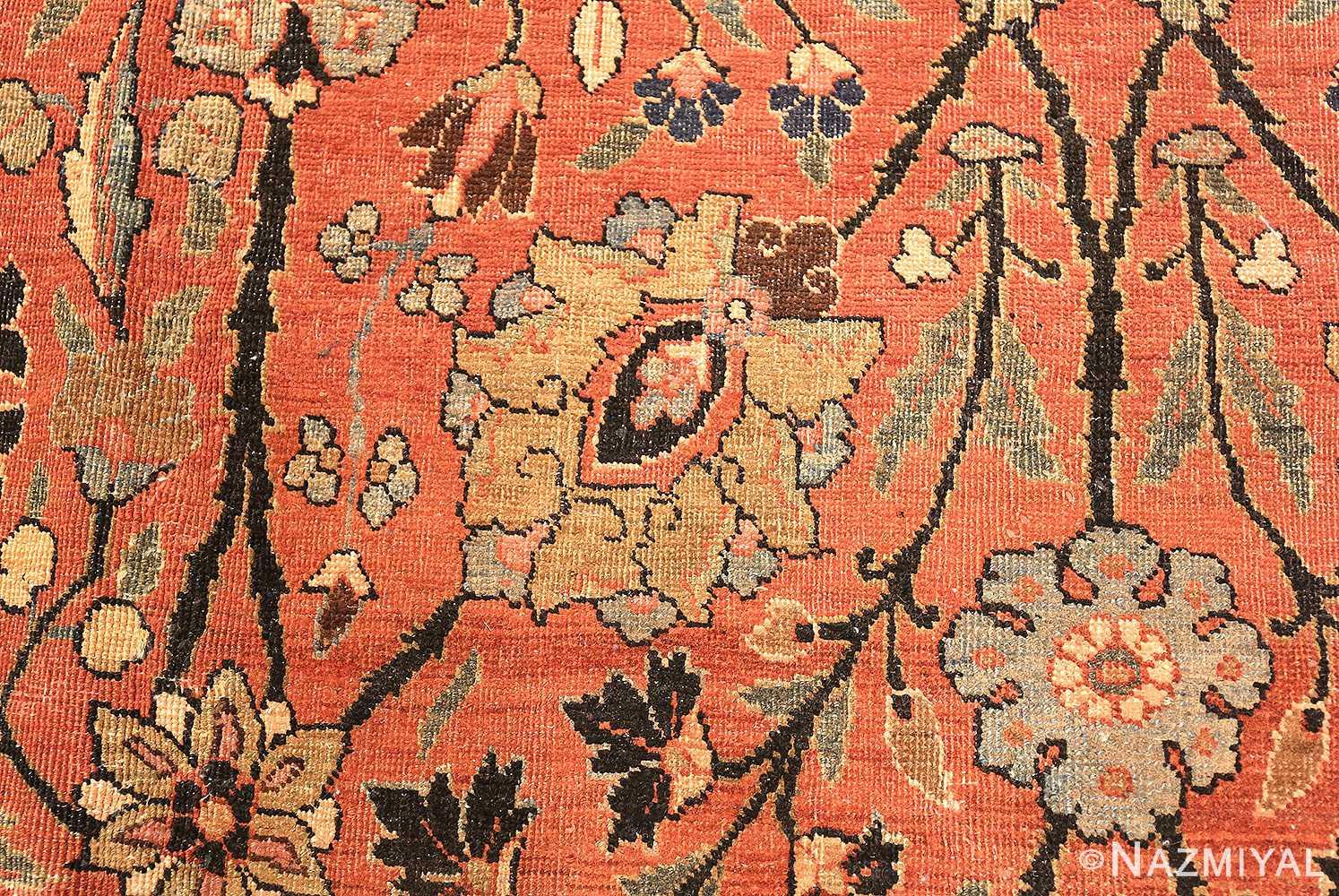 antique persian tabriz rug 42458 detail Nazmiyal