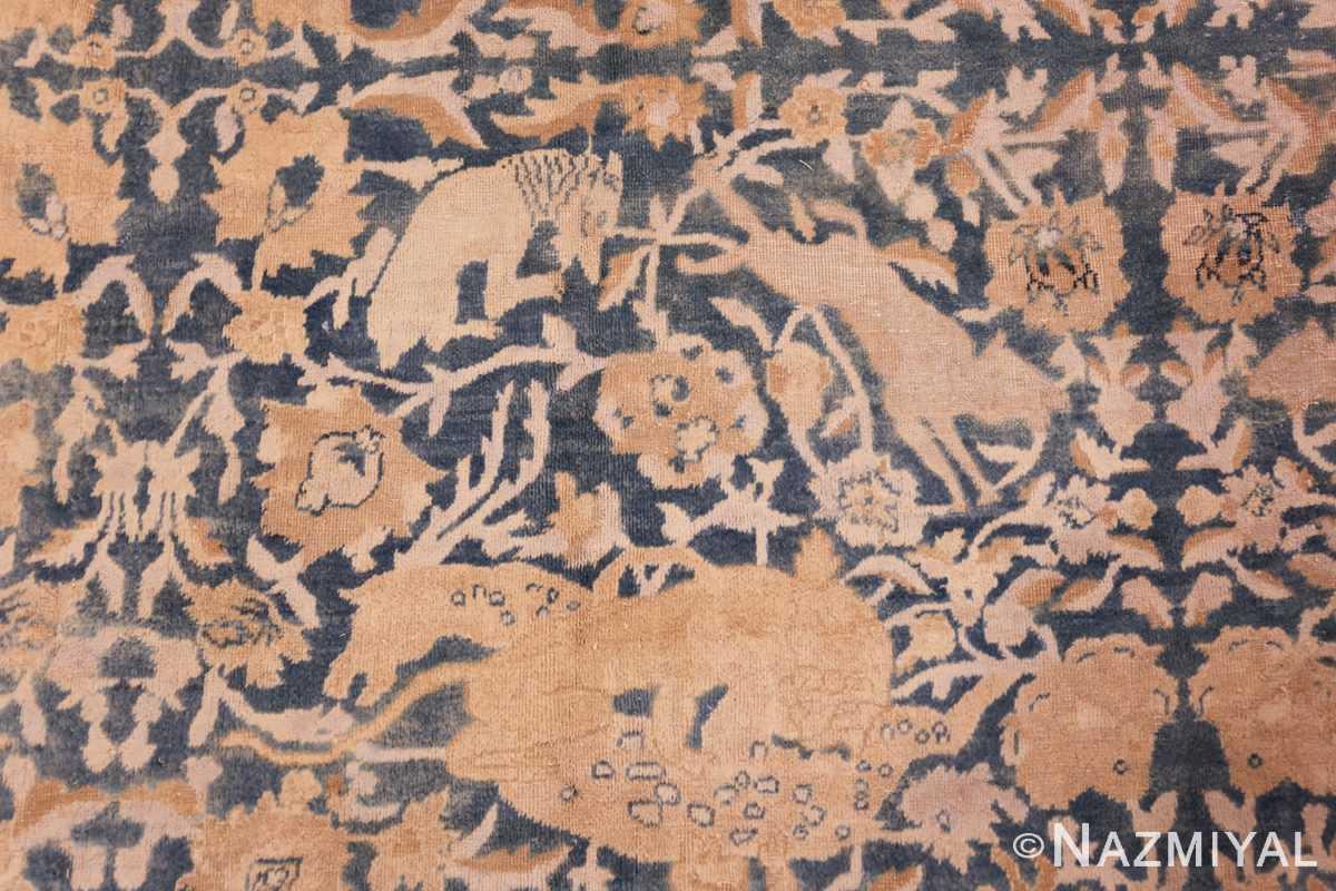 antique indian oriental rug 42095 animal Nazmiyal