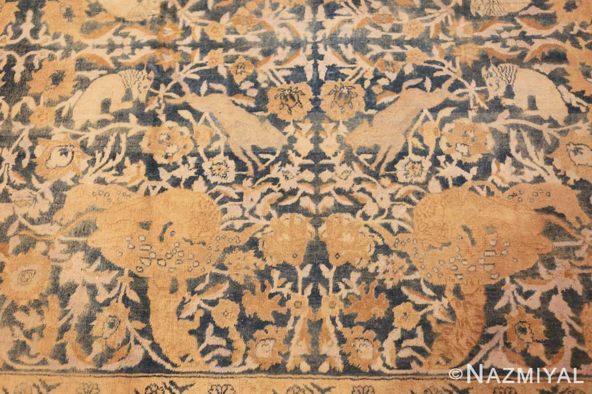 antique indian oriental rug 42095 dragon Nazmiyal