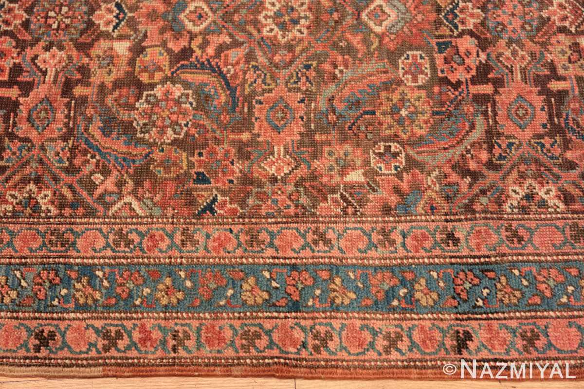 Border Antique Bakshaish Persian runner rug 42365 by Nazmiyal