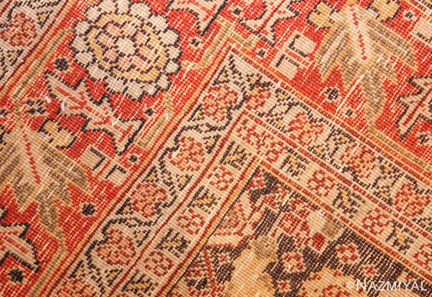 fine antique persian tabriz rug 42699 weave Nazmiyal