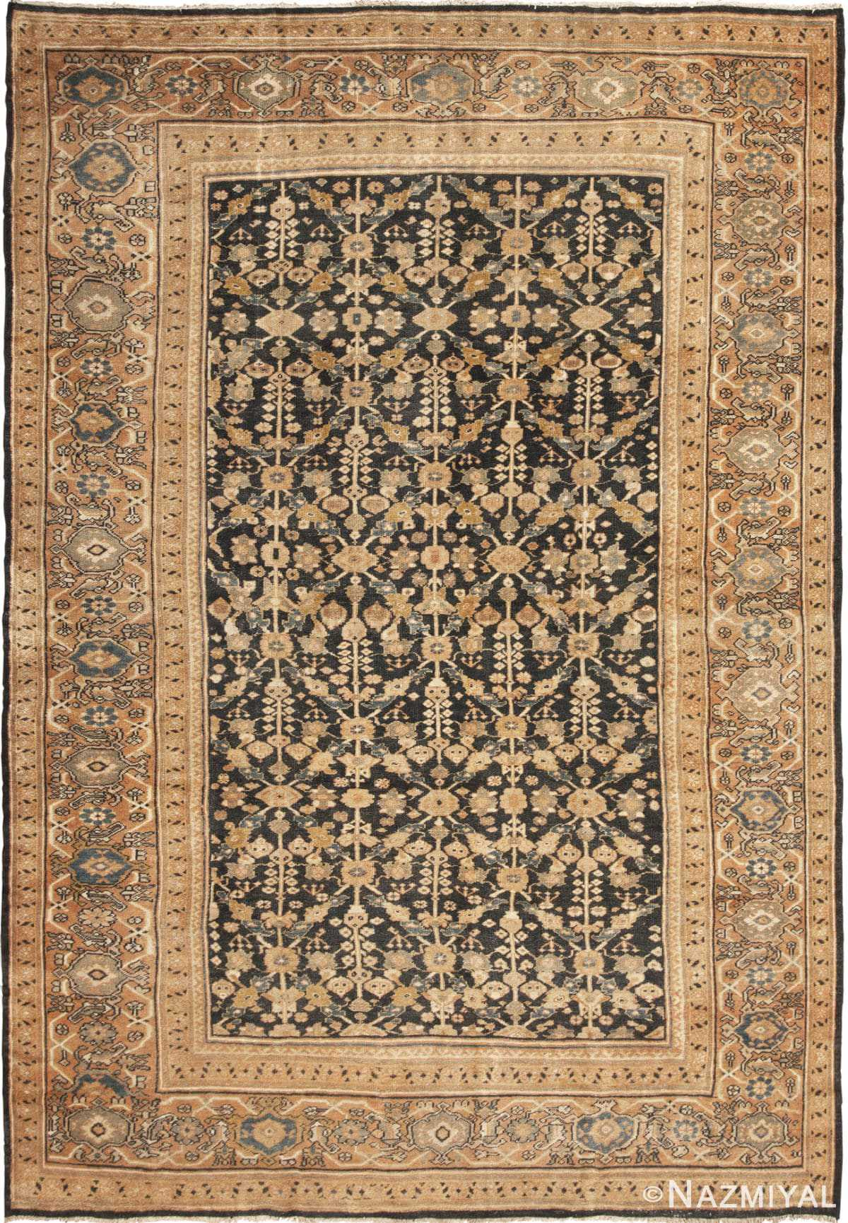 Full view room size Sultanabad Antique Persian Mahal rug 42589 by Nazmiyal