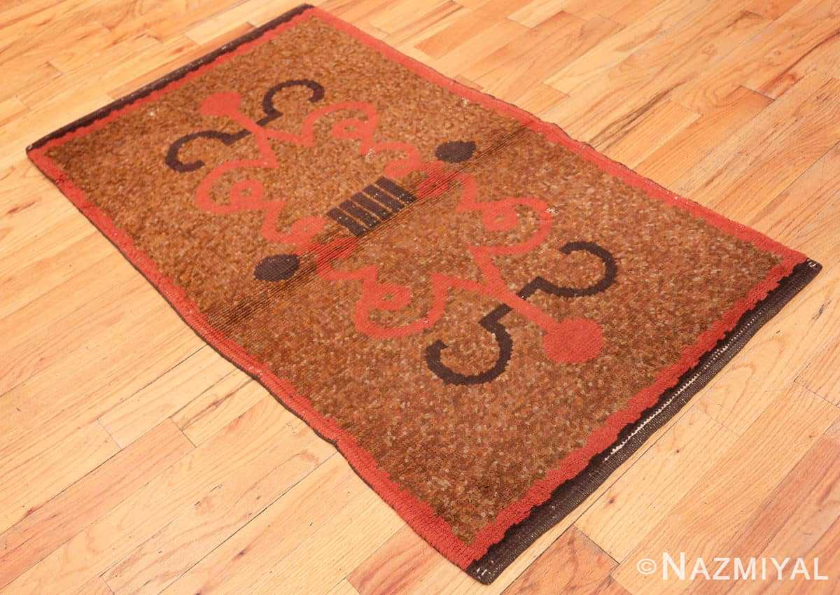 Full Vintage small French Art Deco rug 42637 by Nazmiyal collection.