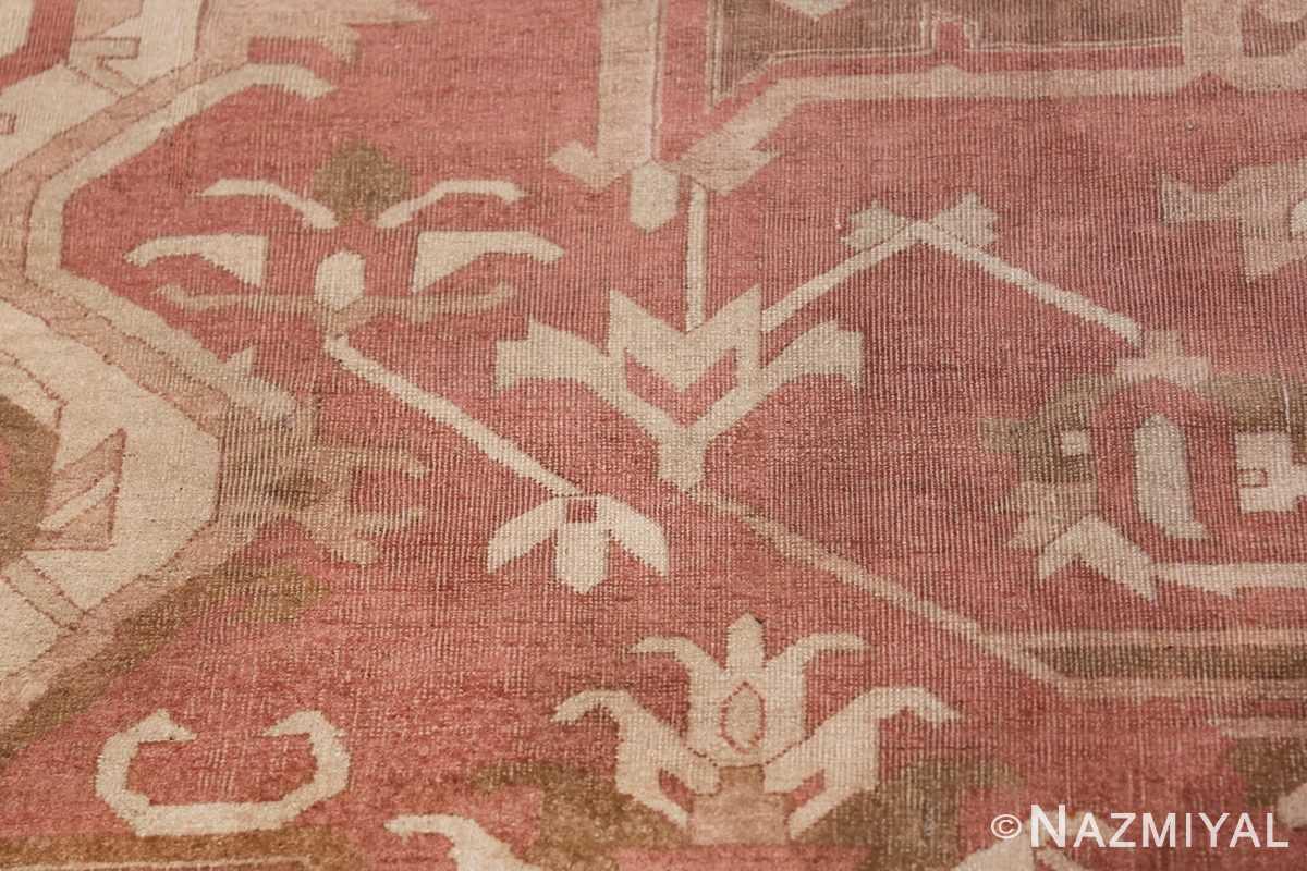 Large Antique Indian Amritsar Rug 41047 Flower White Nazmiyal