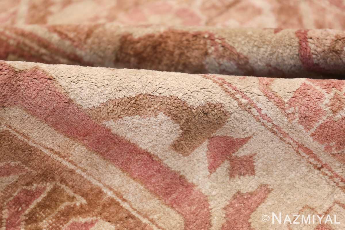 Large Antique Indian Amritsar Rug 41047 Ivory Pile Nazmiyal