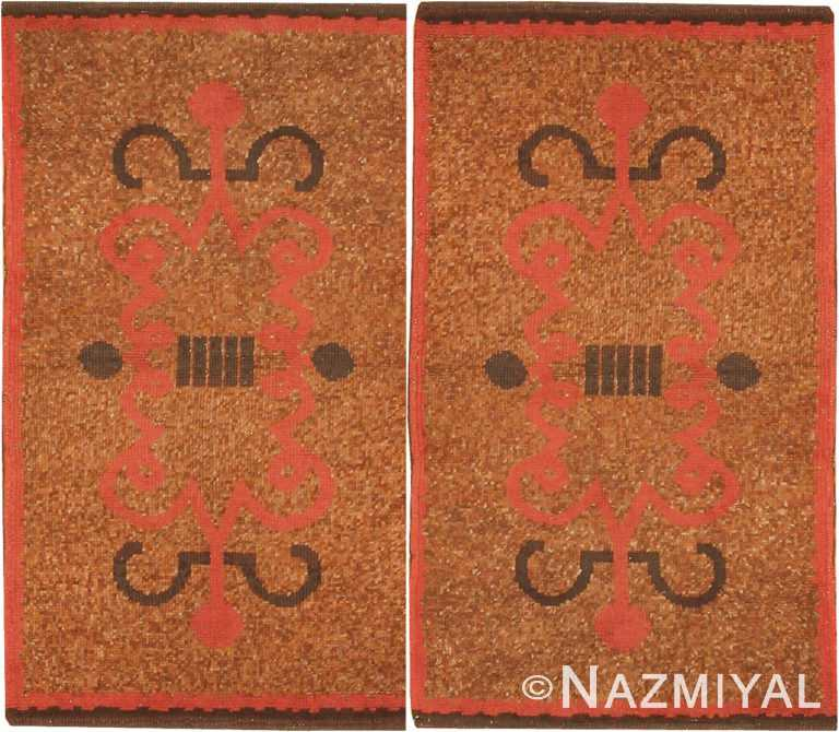 Pair Of French Art Deco Rugs 42693 and 42637 Nazmiyal Antique Rugs