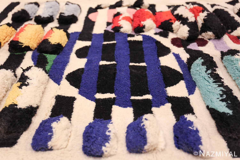 vintage deco wall tapestry rug by yaacov agam 42736 poms Nazmiyal