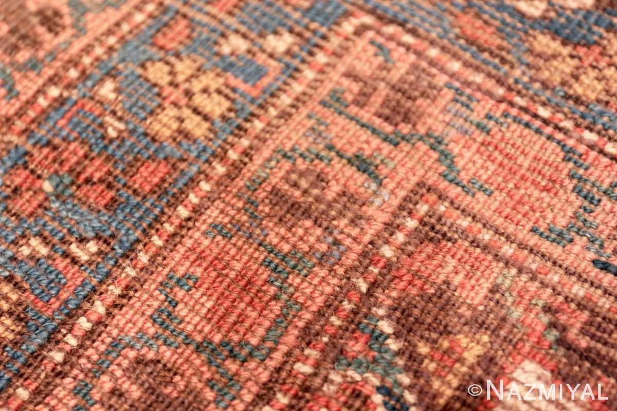 Weave detail Antique Bakshaish Persian runner rug 42365 by Nazmiyal