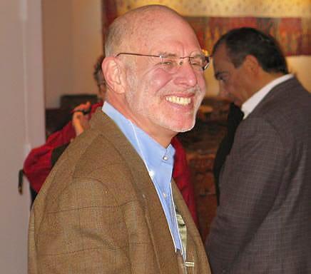 Mark Shilen at Antique Anatolian Kilim Exhibit at Nazmiyal