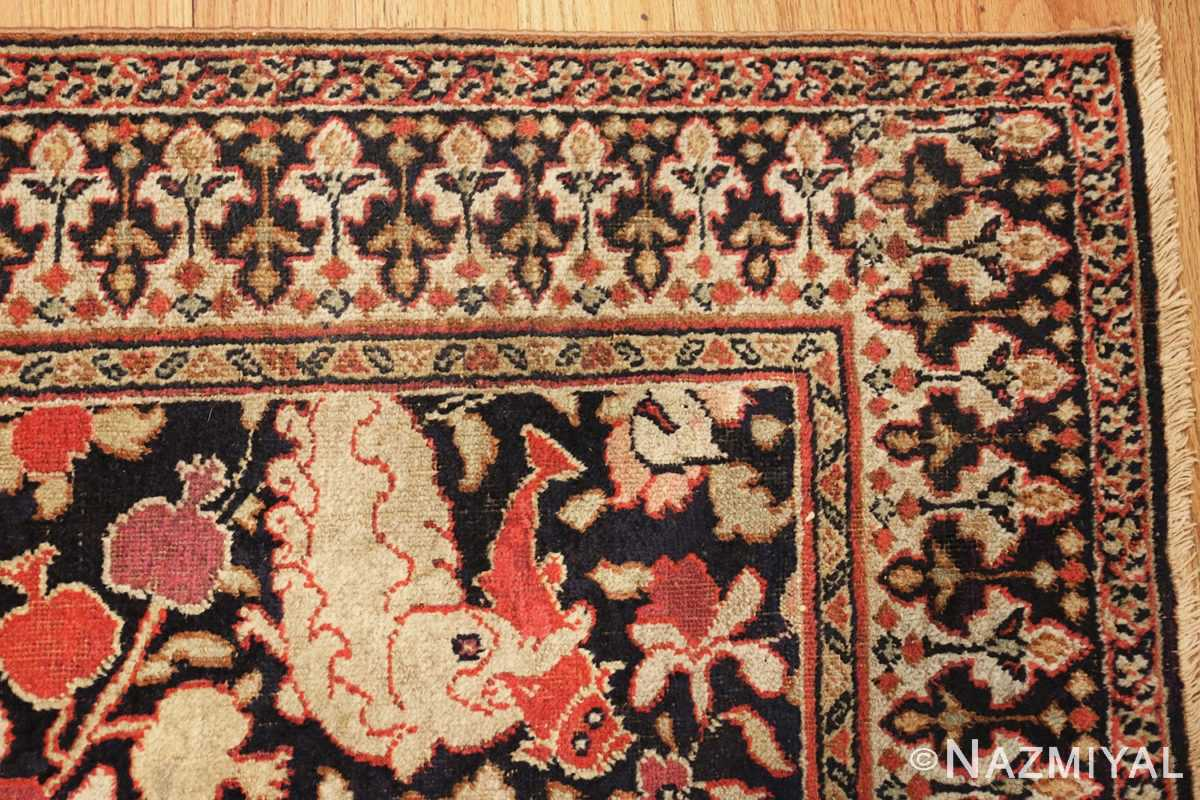 antique khorassan persian rug 3244 corner Nazmiyal