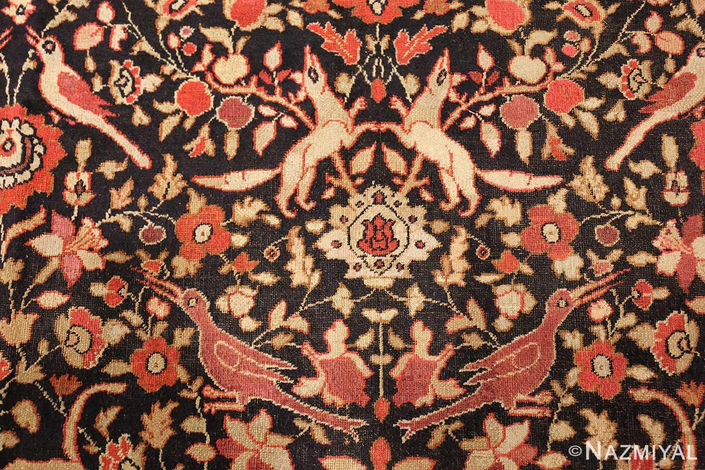 antique khorassan persian rug 3244 crows Nazmiyal