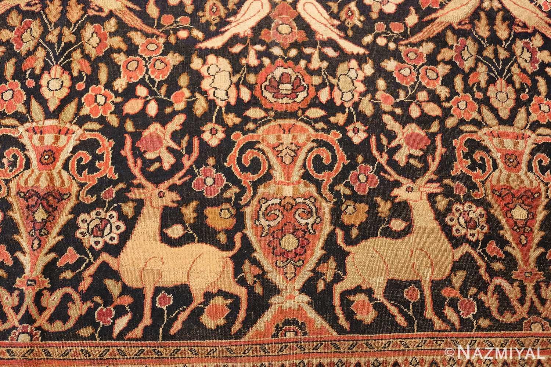 antique khorassan persian rug 3244 deers Nazmiyal