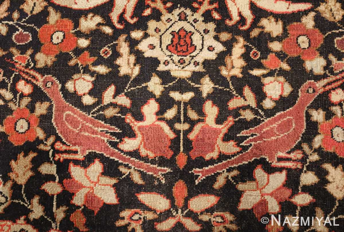 antique khorassan persian rug 3244 detailed Nazmiyal