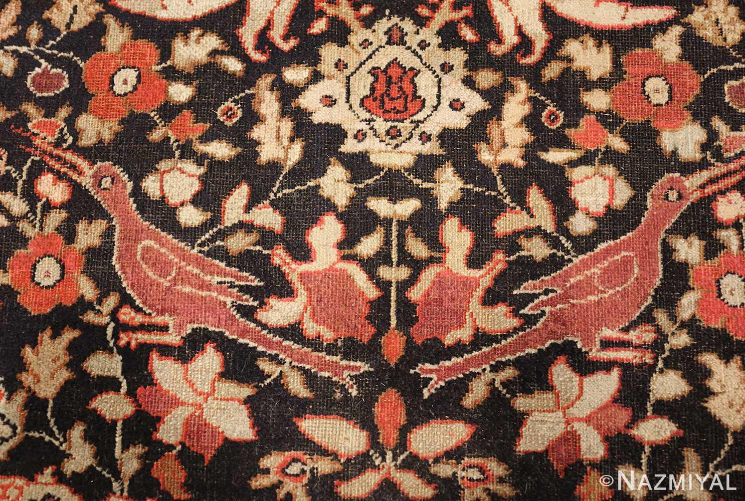 antique khorassan persian rug 3244 detailed Nazmiyal