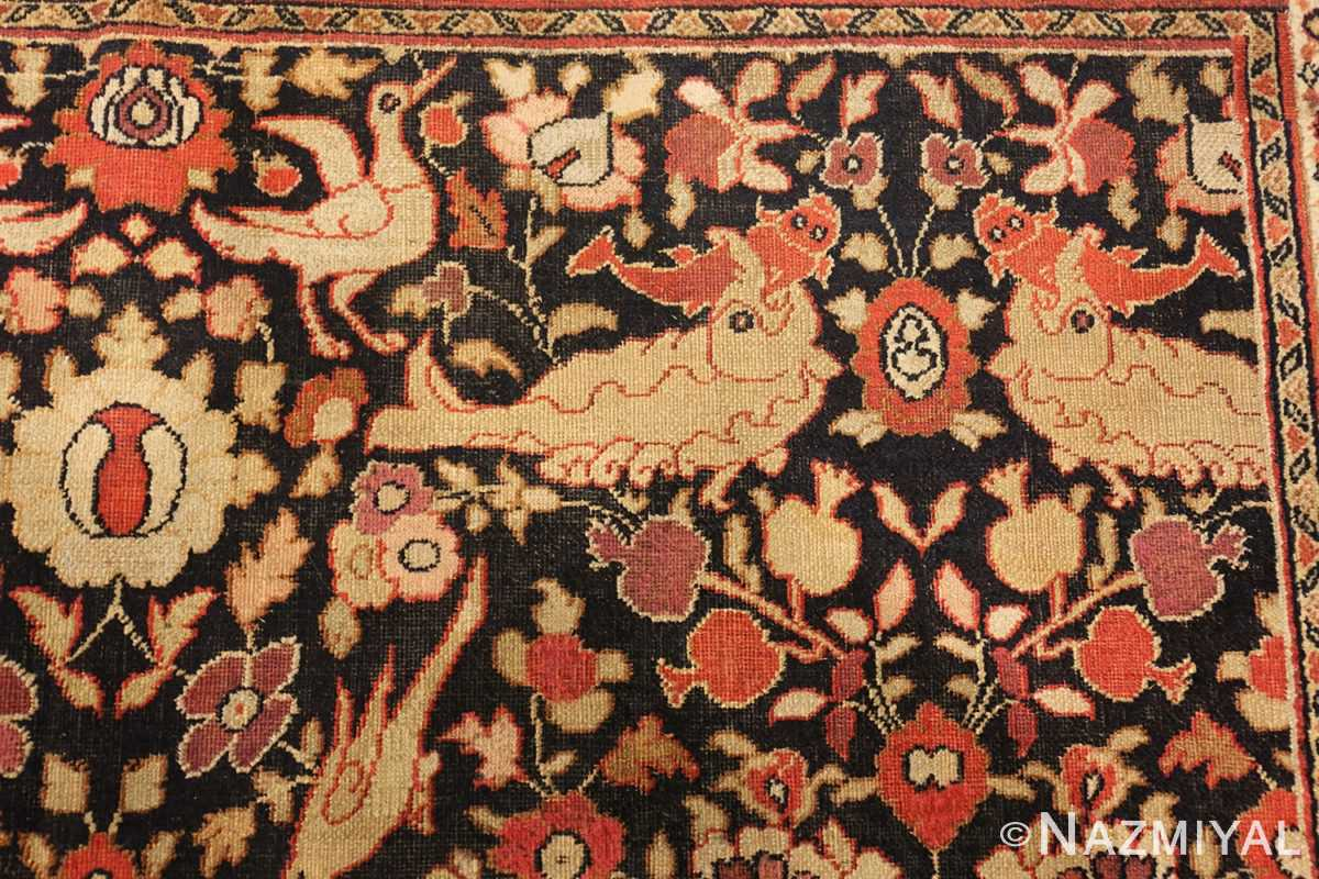 antique khorassan persian rug 3244 fish Nazmiyal