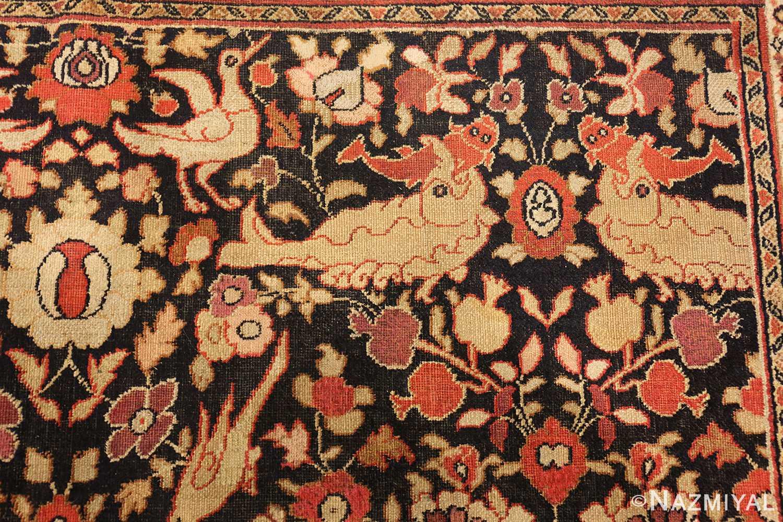 antique khorassan persian rug 3244 fish Nazmiyal