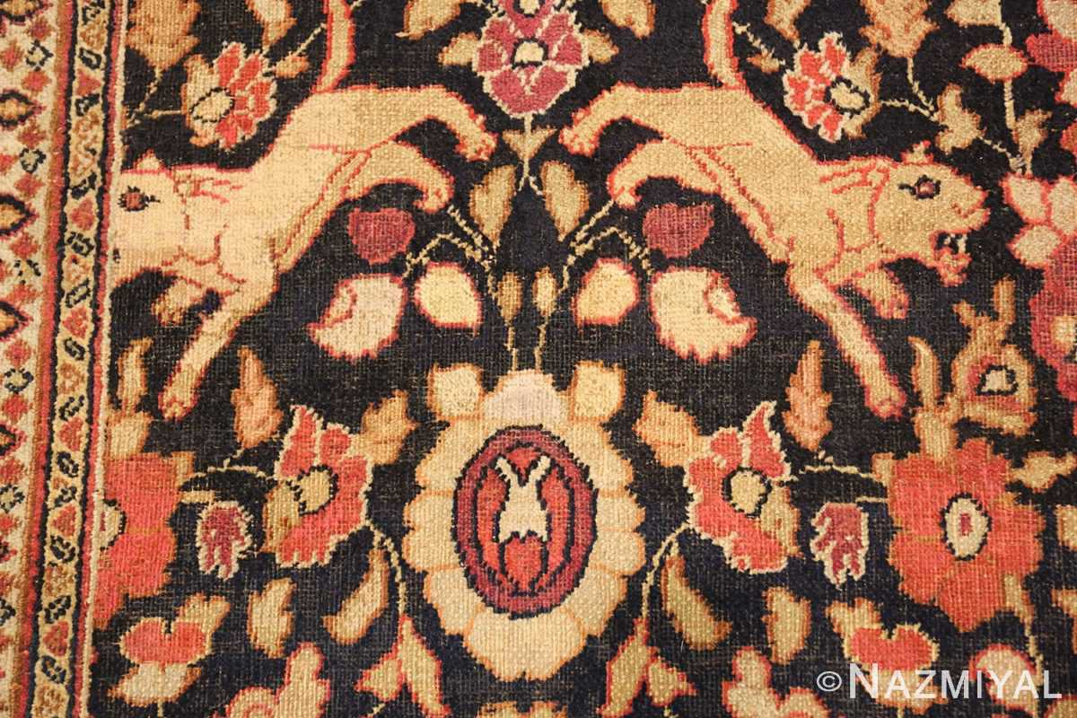 antique khorassan persian rug 3244 lions Nazmiyal