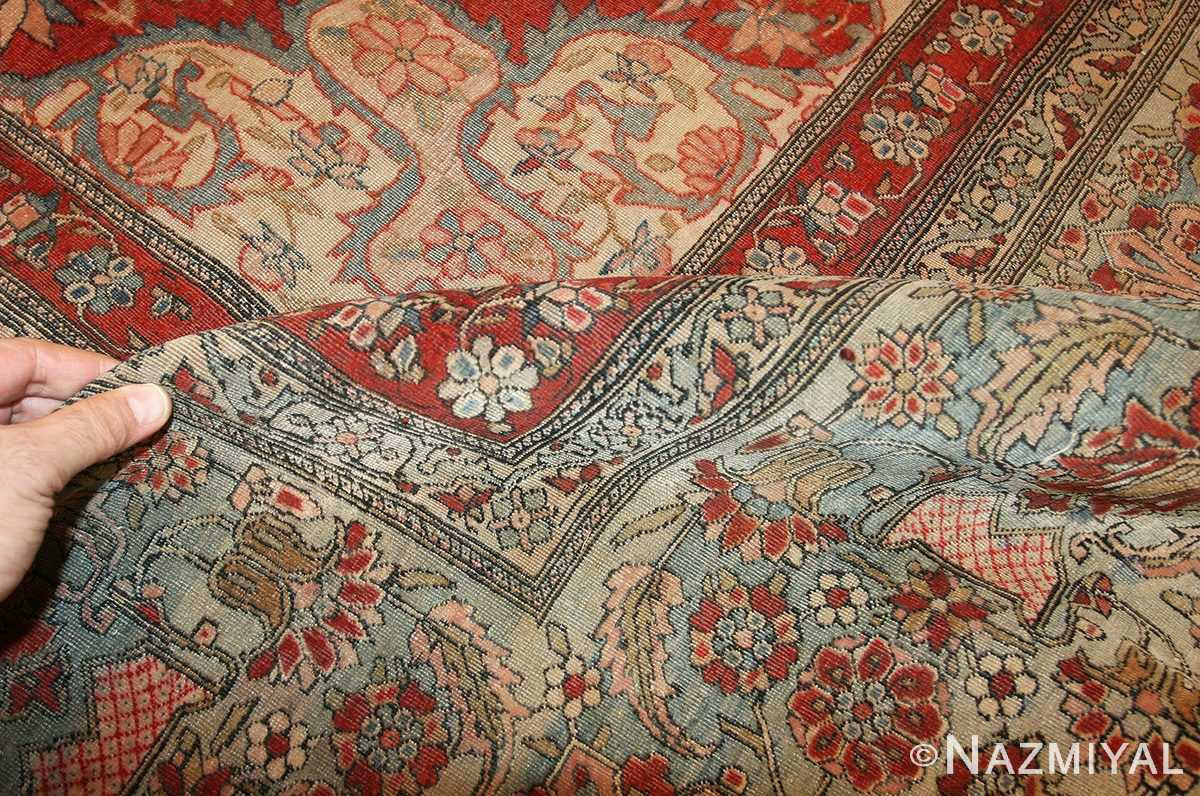 Antique Room Size Persian Mohtashem Kashan Rug 42624 (1)