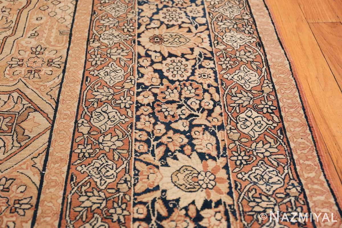 Antique Cream Color Persian Kerman Rug 42611 Border Design Nazmiyal