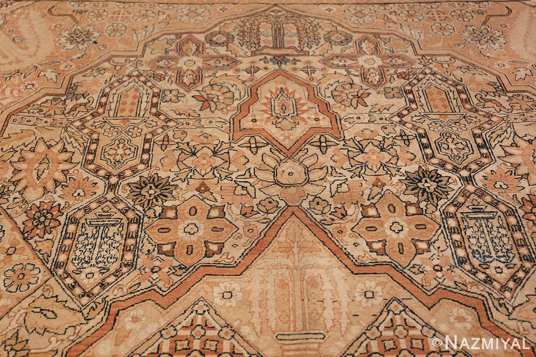 Antique Cream Color Persian Kerman Rug 42611 Inner Top Design Nazmiyal